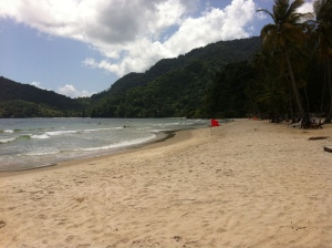 Maracas Beach - a favorite of the locals. We took our sons here every Sunday.