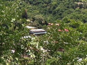 Looking down at my Mom's house from Chancellor Hill - THE viewpoint for the city of Port-of-Spain