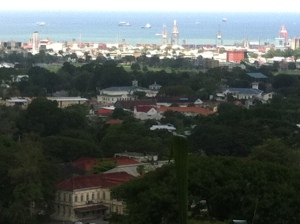 View of Port-of-Spain, the capital of Trinidad & Tobago from Chancellor Hill