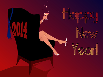 New year cheer love lust and laptops happy new year 2014 greeting card m4hsunfo