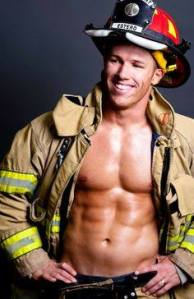 great smile on fireman