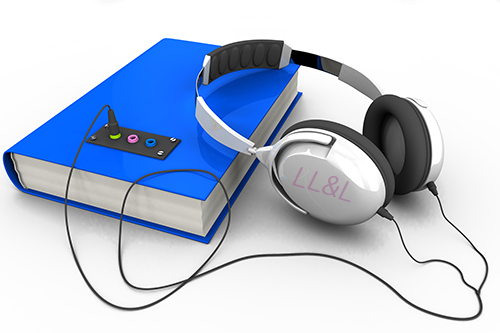 audiobook with headphones