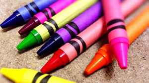 close up of crayons